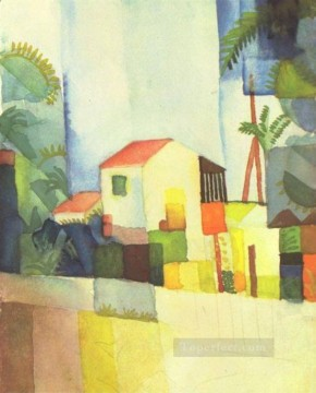 A House August Macke Oil Paintings